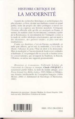4eme Histoire critique de la modernité