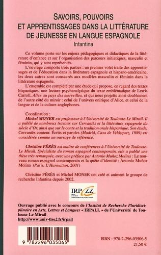 4eme Savoirs, pouvoirs et apprentissages dans la littérature de jeunesse en langue espagnole