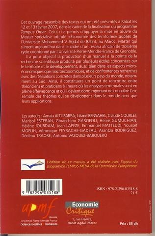 4eme Apport de l'approche territoriale à l'économie du développem