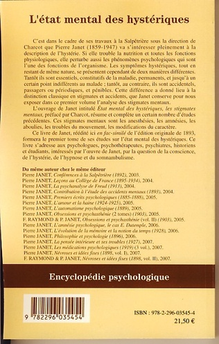 4eme L'Etat mental des hystériques (Volume I)