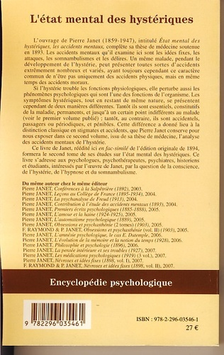 4eme L'état mental des hystériques (Volume II)
