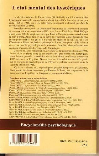 4eme L'Etat mental des hystériques (Volume III)