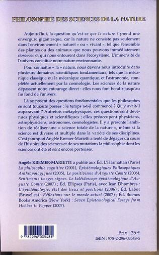 4eme Philosophie des sciences de la nature