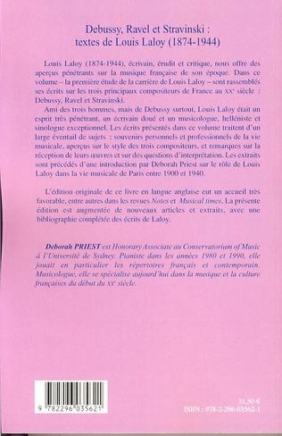 4eme Debussy, Ravel et Stravinski : textes de Louis Laloy (1874-1944)