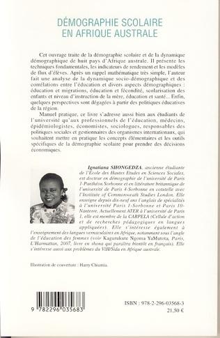 4eme Démographie scolaire en Afrique australe