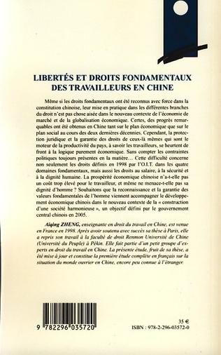 4eme Libertés et droits fondamentaux des travailleurs en Chine