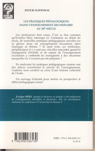 4eme Les pratiques pédagogiques dans l'enseignement secondaire au 20e siècle