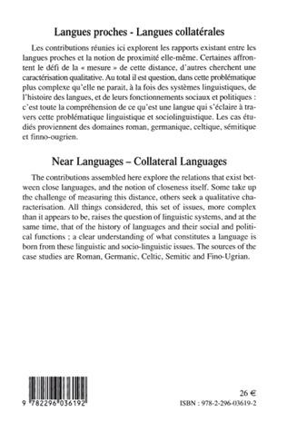 4eme Langues proches - Langues collatérales