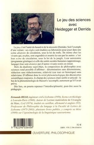 4eme Le jeu des sciences avec Heidegger et Derrida