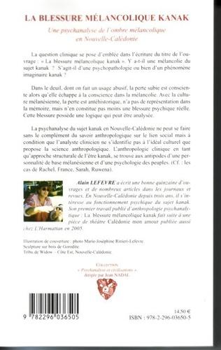 4eme La Blessure mélancolique Kanak