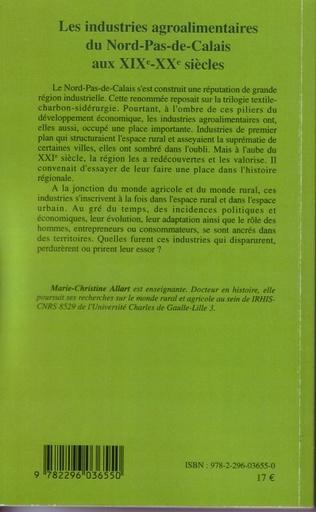 4eme Les industries agroalimentaires du Nord-Pas-de-Calais aux XIXe -XXe siècles