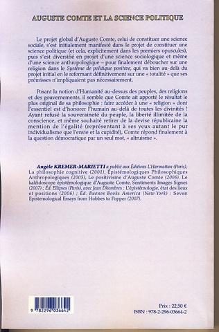 4eme Auguste Comte et la science politique