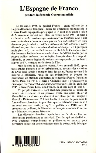 4eme L'Espagne de Franco pendant la Seconde Guerre mondiale