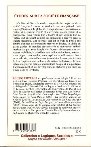 4eme Etudes sur la société française