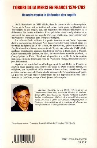 4eme L'ordre de la Merci en France 1574-1792