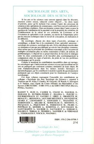 4eme Sociologie des arts, sociologie des sciences