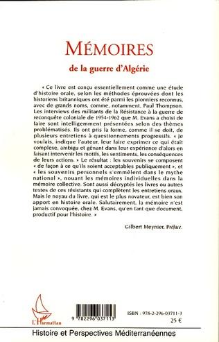 4eme Mémoires de la guerre d'Algérie