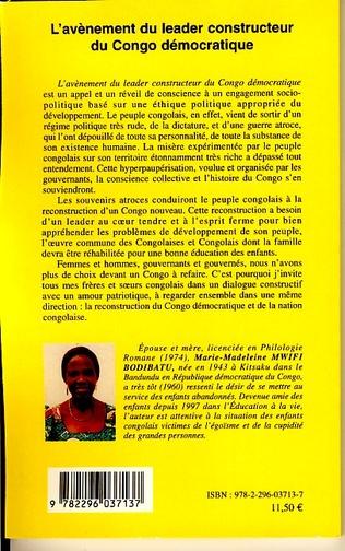 4eme L'avènement du leader constructeur du Congo démocratique