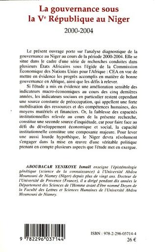 4eme La gouvernance sous la Vè République au Niger