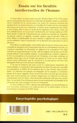 4eme Essais sur les facultés intellectuelles de l'homme