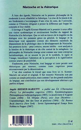 4eme Nietzsche et la rhétorique