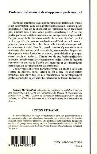 4eme Professionnalisation et développement professionnel