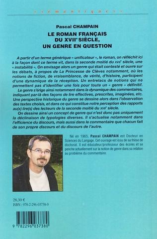 4eme Le roman français du XVIIème siècle, un genre en question