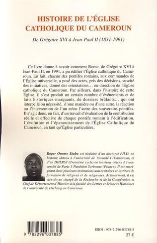4eme Histoire de l'Eglise catholique du Cameroun