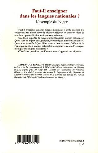 4eme Faut-il enseigner dans les langues nationales?