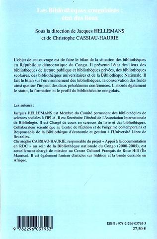 4eme Les bibliothèques congolaises : état des lieux
