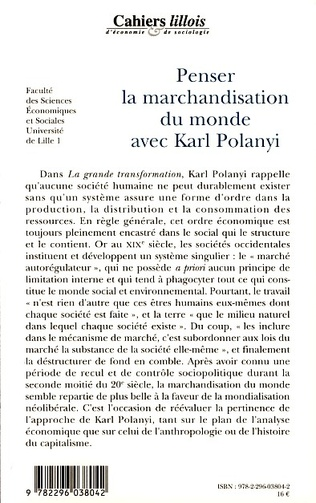 4eme Penser la marchandisation du monde avec Karl Polanyi