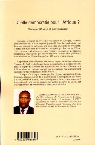 4eme Quelle démocratie pour l'Afrique ?