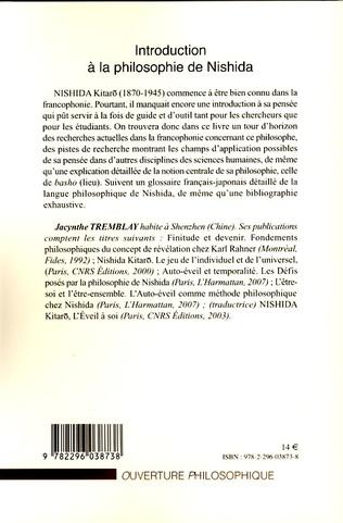 4eme Introduction à la philosophie de Nishida