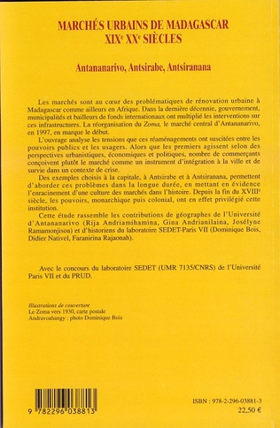 4eme Marchés urbains de Madagascar XIXè XXè siècles