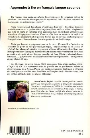 4eme Apprendre à lire en français langue seconde