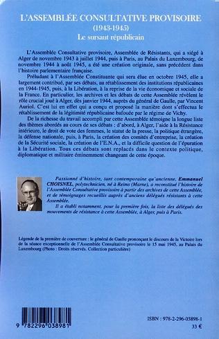 4eme L'Assemblée Consultative provisoire (1943-1945)