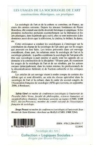 4eme Les usages de la sociologie de l'art