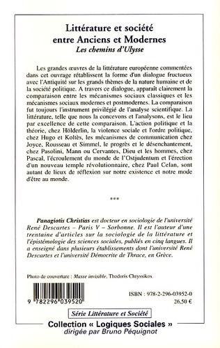 4eme Littérature et société entre Anciens et Modernes
