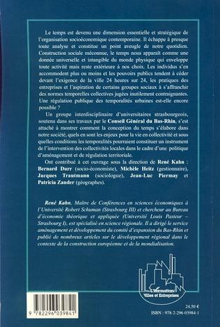 4eme Régulation temporelle et territoires urbains