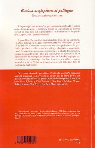 4eme Cinéma anglophone et politique