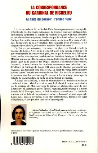 4eme La correspondance du cardinal de Richelieu