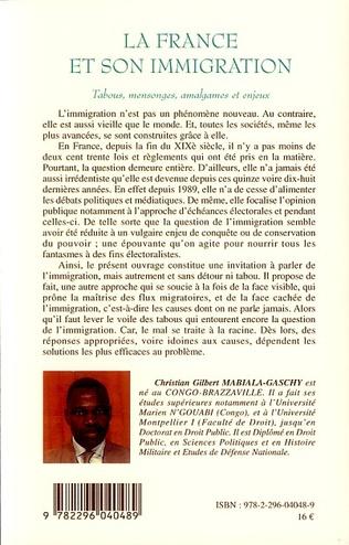 4eme La France et son immigration