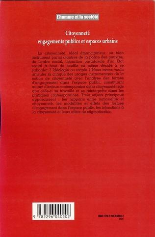 4eme Citoyenneté, engagements publics et espaces urbains