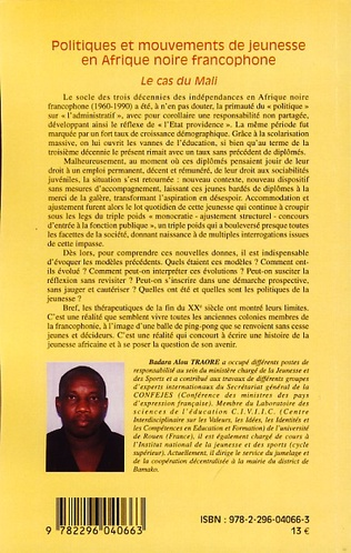 4eme Politiques et mouvements de jeunesse en Afrique noire francophone