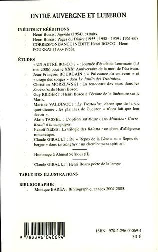 4eme Cahiers Henri Bosco N°45/46 numéro spécial