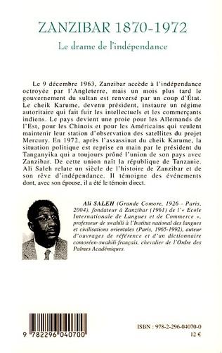 4eme Zanzibar 1870-1972