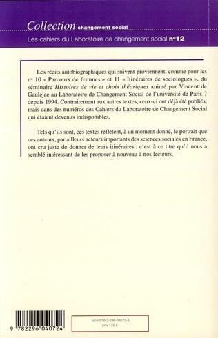 4eme Itinéraires de sociologues (suite...)