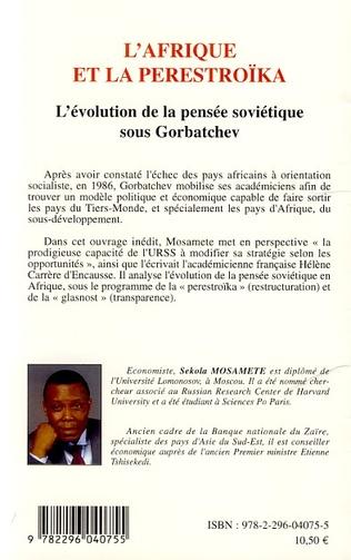 4eme L'Afrique et la Perestroïka