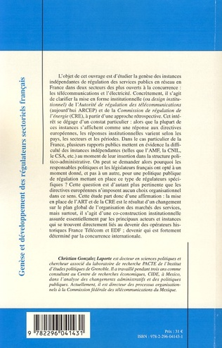 4eme Genèse et développement des régulateurs sectoriels français