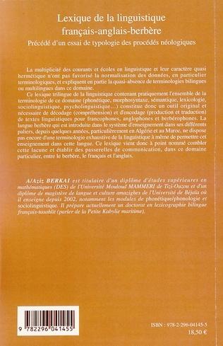 4eme Lexique de la linguistique français-anglais-berbère